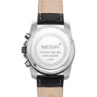MEGIR 378202 Men's Leather Strap Quartz Watch - Black