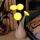 Flower Bottle Modeling Light Control Induction Pot Culture USB Lampe - Blanc + Jaune