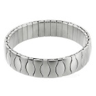 Elastic Watchband Style Stainless Steel Bracelet Bangle - Silver