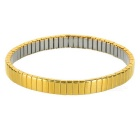 Unisex Elastic Stainless Steel Bracelet Bangle - Golden Yellow + Silver