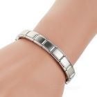 Unisex Elastic Watchband Style Stainless Steel Bracelet Bangle - Silver