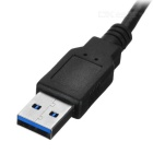 Cwxuan USB 3.0 to SATA Adapter Cable w/ DC 12V Interface - Black (40cm)
