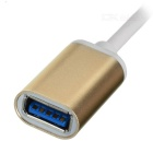 Cwxuan USB 3.1 Type C Male to USB 3.0 Female Adapting Cable w/ OTG Function - Golden + White (21cm)
