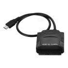 Cwxuan USB 3.1 Type-C na SATA kabel w / DC 12V Interface - Black (39cm)