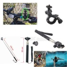 18-in-1 Outdoor Sports Camera Accessories Kit for GoPro Hero 1, 2, 3, 3+, 4, 4 Session - Black