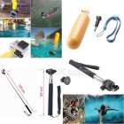 12-in-1 Outdoor Sports Camera Accessories Kit for GoPro Hero 1, 2, 3, 3+, 4, 4 Session - Black