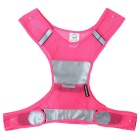 Salzmann Outdoor Cycling Jogging Reflective Safety Halter Vest Waistcoat - Deep Pink + Grey (S/M)
