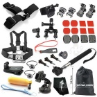 35-in-1 Outdoor Sports Camera Accessories Kit for GoPro Hero 1, 2, 3, 3+, 4, 4 Session - Black