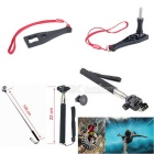 16-in-1 Outdoor Sports Camera Kit Acessórios para GoPro herói 1, 2, 3, 3 +, 4, 4 Session - Black