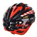 JCSP E-205 al aire libre Cycling PC casco de seguridad w / Windproof Gafas-Negro + Rojo