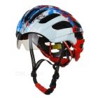 JCSP E-205 Cycling Safety Helmet w/ Windproof Goggles - White + Red