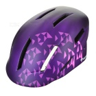 MOON Outdoor Cycling Roller-Skating Helmet w/ Warning Light - Purple