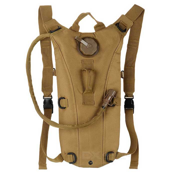 AoTu Cycling Water Bag Hydration Bladder Backpack - Khaki (2.5L)