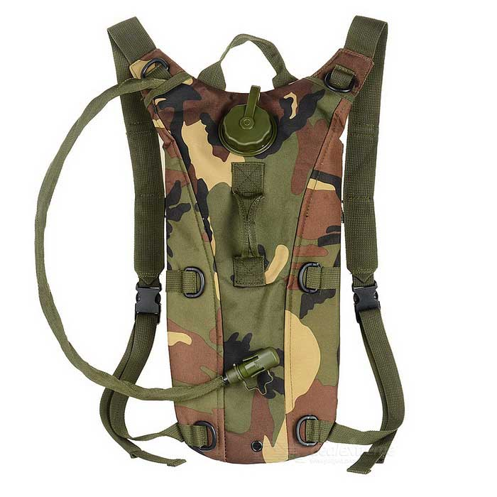 AoTu Outdoor Cycling Mountaineering Water Bag Hydration Bladder Backpack - Camouflage (2.5L) - Camping - Sports and Outdoors