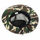 Outdoor Sports Hiking Fishing Camouflage Wide Brim Boonie Hat - Camouflage Green
