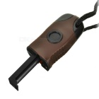Outdoor Survival Flint Pedra Fire Starter w / Glow-in-the-escuro Compass & Whistle - Dark Brown + Preto