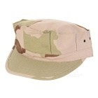 Unisex Military Canvas Octagonal Cap Hat - Khaki