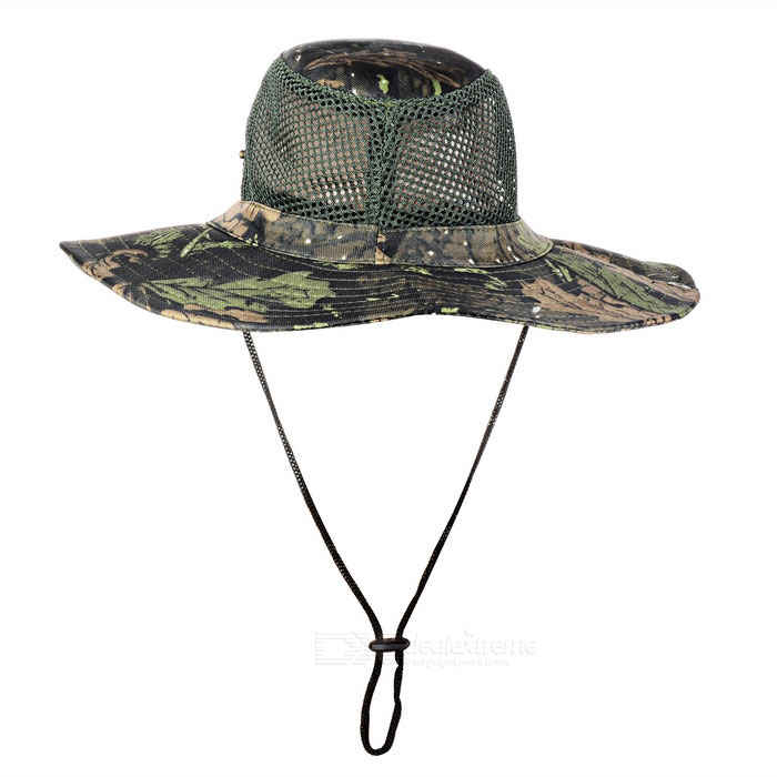 Outdoor Sports Hiking Fishing Camouflage Wide Brim Boonie Hat - BlackForm  ColorBlack + CamouflageSizeFree SizeQuantity1 DX.PCM.Model.AttributeModel.UnitMaterialPolyester cottonShade Of ColorBlackSeasonsFour SeasonsGenderUnisexHead Circumference58~64 DX.PCM.Model.AttributeModel.UnitBest UseRunning,Climbing,Mountaineering,Travel,Cycling,FishingSuitable forAdultsPacking List1 x Hat<br>