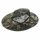 Outdoor Sports Hiking Fishing Camouflage Wide Brim Boonie Hat - Black