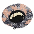 Sports Hiking Fishing Camouflage Wide Brim Boonie Hat - Black + Grey