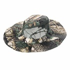 Outdoor Sports Hiking Fishing Camouflage Wide Brim Boonie Hat - Khaki + Black