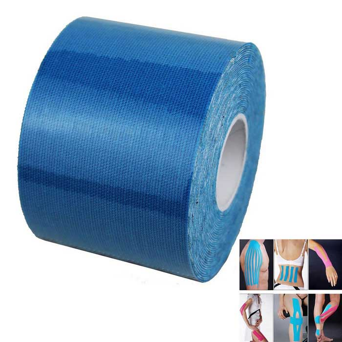 Elastinen Cotton Motion side Muscle Paste Kinesiology Tape - Blue (5cmx5m)
