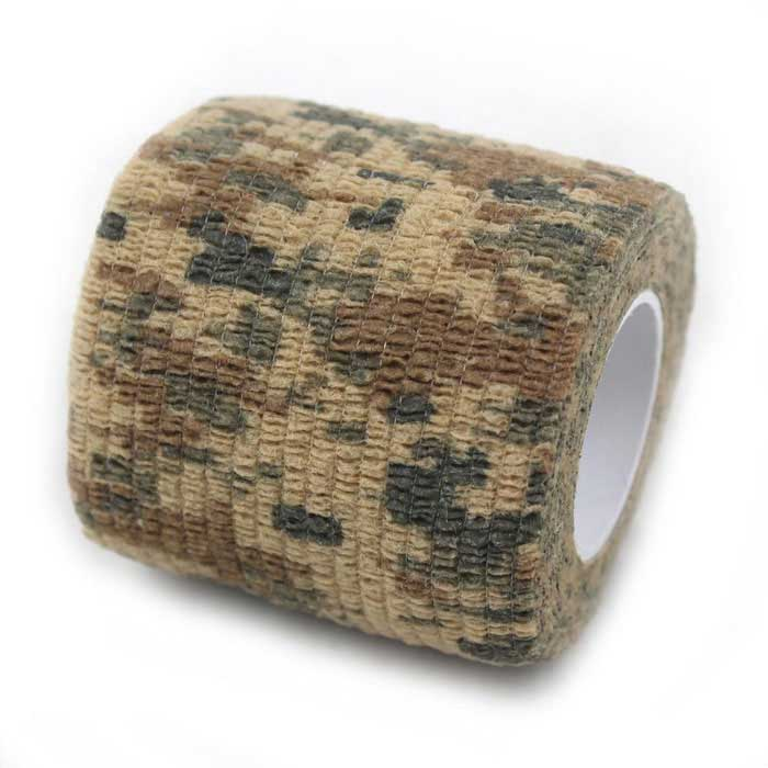 Non-Woven Fabrics Elastic Adhesive Tape - Camouflage (5x220cm)First Aid<br>Form ColorMultiCamQuantity1 DX.PCM.Model.AttributeModel.UnitMaterialClothBest UseCamping,Mountaineering,Travel,CyclingPacking List1 x Adhesive Tape<br>