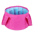 Outdoor Camping Hiking Portable Multi-purpose Folding Wash Basin - Pink (15L)