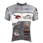 Paladinsport #536DX-M Men's Short-Sleeve Cycling Jersey T-Shirt Top - Grey (M)