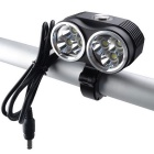 RichFire SF-663 T6 6-LED 4800lm 3-Mode White Bike Light Lamp - Black