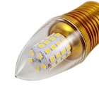 KINFIRE E14 9W 720lm 45-2835 SMD LED Lämmin valkoinen valo Candle Lamp - Gold (AC 85 ~ 265V)