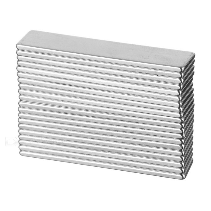 F50x10x2mm Rectangular NdFeB Magnet - Silver (20PCS)Magnets Gadgets<br>Form ColorSilver 20PCSMaterialNdFeBQuantity1 SetNumber20Suitable Age 8-11 Years,12-15 Years,GrownupsPacking List20 x Magnets<br>