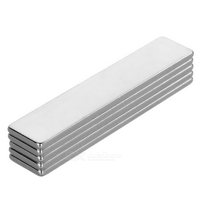 F50x10x2mm Rectangular NdFeB Magnet - Silver (5PCS)
