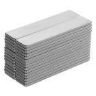 F50x10x2mm Rectangular NdFeB Magnet - Silver (30PCS)
