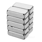10*5*3mm Rectangular Strong NdFeB Magnet - Silver (10PCS)