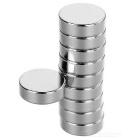 D12*4mm Round N35 NdFeB Neodymium Magnets Set - Silver (10PCS)