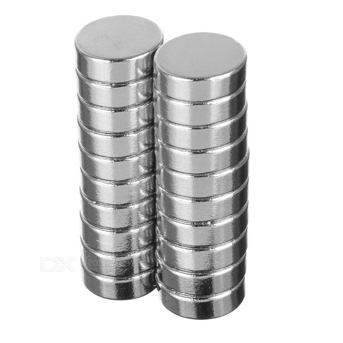 D12*4mm Round N35 NdFeB Neodymium Magnets Set - Silver (20PCS)Magnets Gadgets<br>Form ColorSilver 20MaterialNdFeBQuantity1 SetNumber20Suitable Age 8-11 Years,12-15 Years,GrownupsPacking List20 x Magnets<br>
