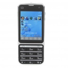 "BT88 2.4"" Touch Screen Dual SIM Dual Network Standby Quadband GSM TV Cell Phone - Black"