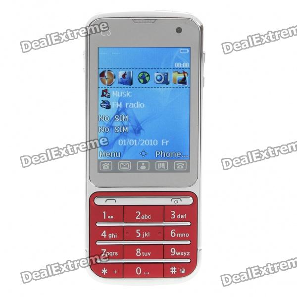 "BT88 2.4"" Touch Screen Dual SIM Dual Network Standby Quadband GSM TV Cell Phone - Red"