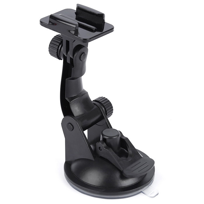 Vacuum Swivel Car Suction Cup Mount Holder Camera Bracket for GoPro Hero - Black