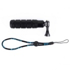 Handheld Rubber Monopod Selfie Pole for GoPro Hero 4/3 + / 3/2/1 - Black