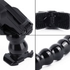 7 § Camera Jaws Flex Clamp Clip Mount Justerbar Neck Stativ för Gopro - Svart