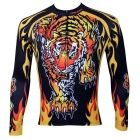 Paladinsport Men's Tiger Pattern Cycling Jersey - Black + Yellow (XL)