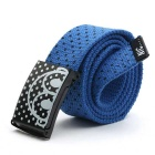 Unisex Polka Dot Pattern Simple Canvas Belt - Blue