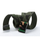 Unisex Camouflage Pattern Simple Canvas Belt - Army Green