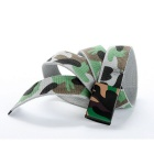 Unisex Camouflage Pattern Simple Canvas Belt - Grey