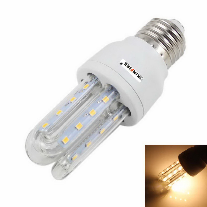 KINFIRE E27 5W 400lm 3500K 24-2835 SMD LED Warm White Light 3U Highlight Energy Saving Lamp(85~265V)