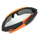 8.0MP 1080P Wide-Angle Sports Sunglasses Camcorder w/ TF Card Slot - Black + Orange