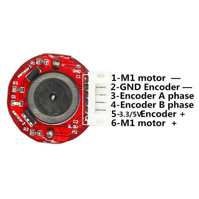 High torque 25mm dc 6 0v 100rpm encoder precision gear for Dc gear motor with encoder