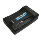 Mini 1080P SCART to HDMI Video Audio Scaler Converter - Black (US Plug)